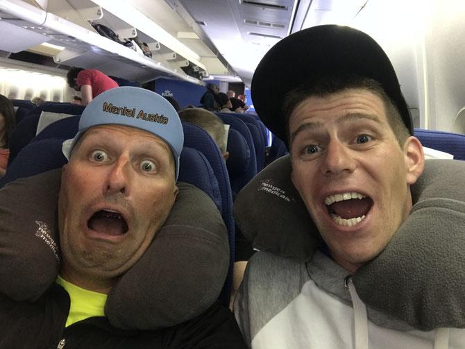 Patric und Michael im Flieger
