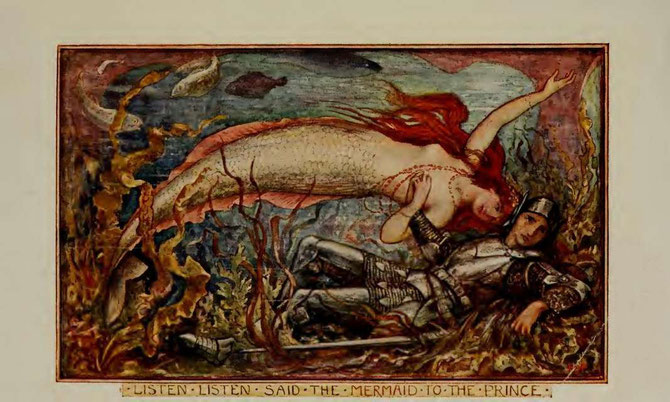 color illustration of mermaid by hj ford