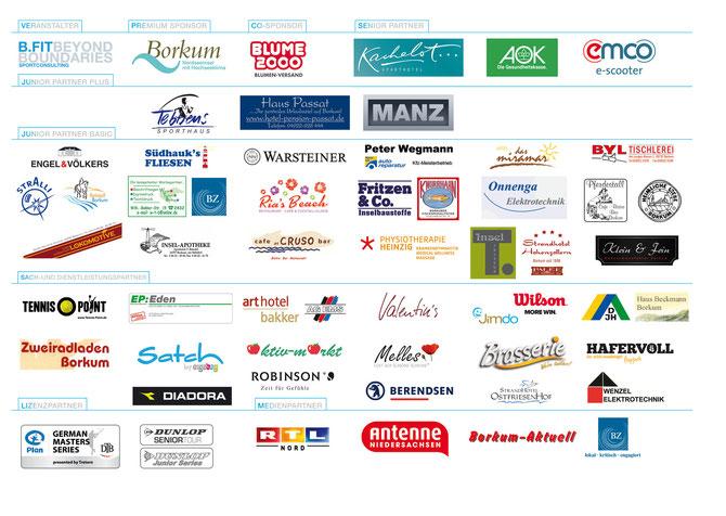 Das Borkum Open - 103 Jahre Bäderturnier Sponsorenboard