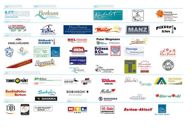 Das Borkum Open - 102 Jahre Bäderturnier Sponsorenboard