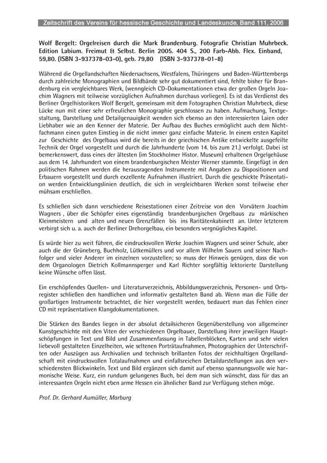 Zeitschrift des Vereins für hessische Geschichte, Band 111, 2006