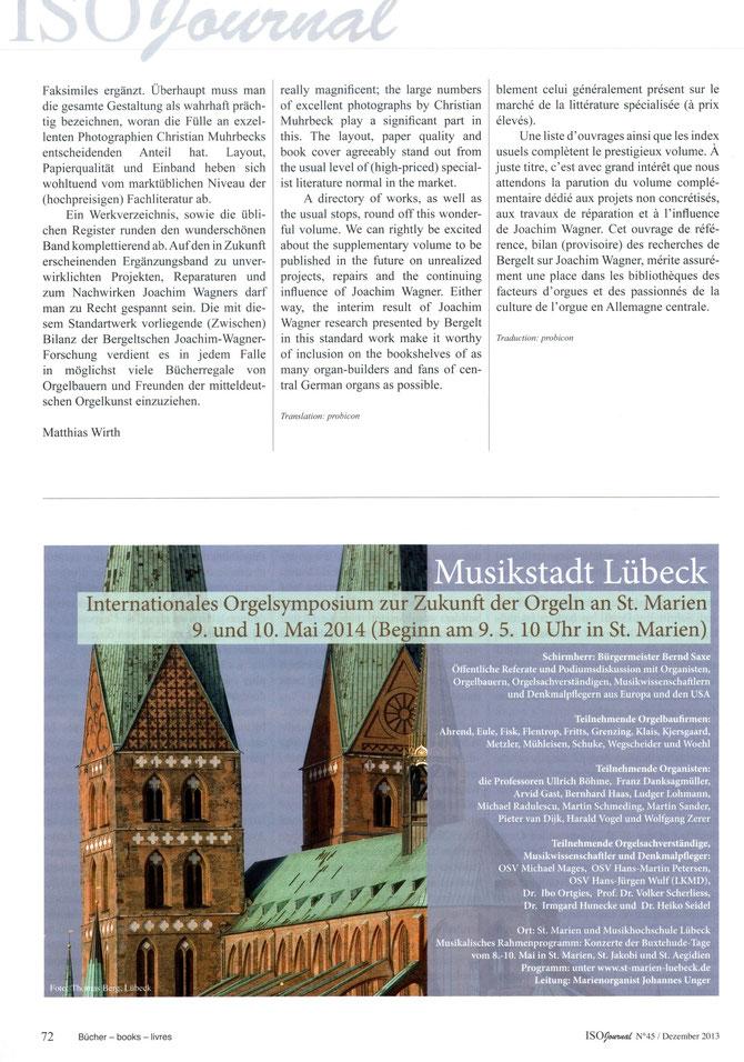 ISO Journal, Nr. 45 Dezember 2013 - Matthias Wirth