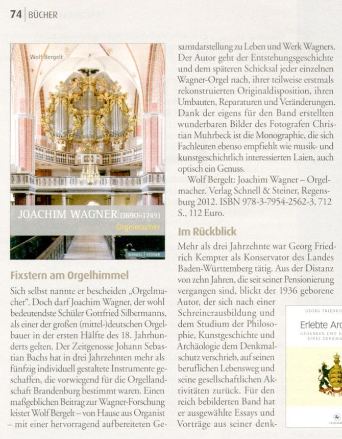 Monumente, Magazin für Denkmalkultur, 22. Jg. Nr. 6 Dezember 2012