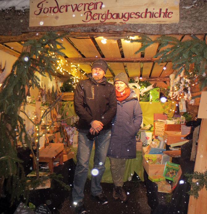 Zwei frostige Gesellen auf der Stockheimer Bergmännischen Weihnacht.