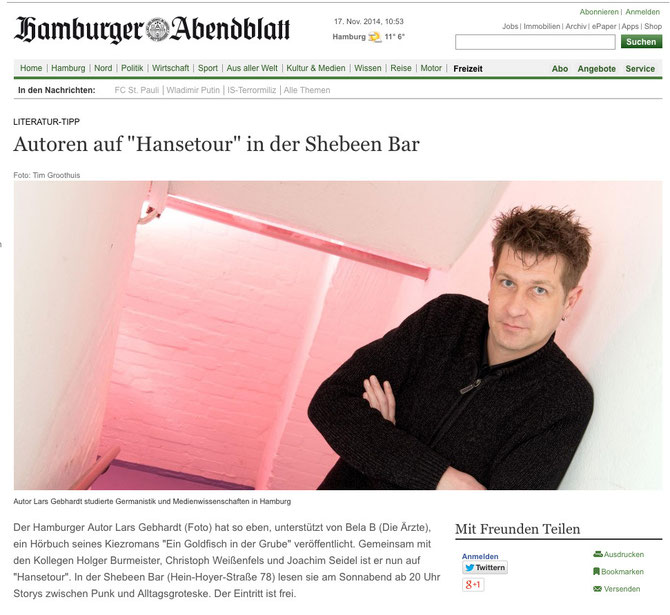 Lars Gebhardt im Hamburger Abendblatt