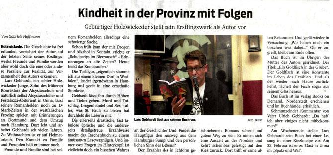 Lars Gebhardt ein Goldfisch in der Grube Kritik Westfälische Rundschau / Hellweger Anzeiger 24.12.2013