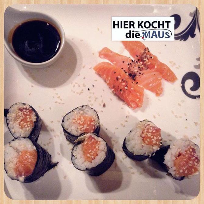 Schnelles Reste-Sushi mit Lachs