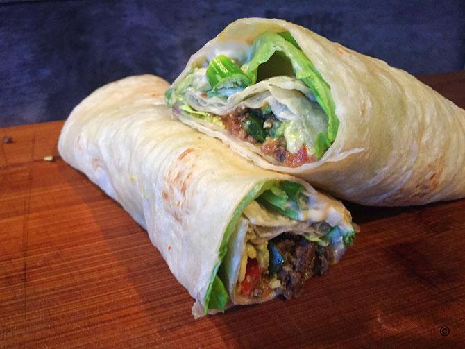 Rezept Dueruem Wrap mit Hackfleisch und Guacamole