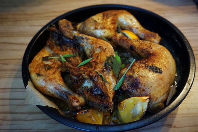 Rezept low carb mediterranes Salbei-Haehnchen mit Zitrone