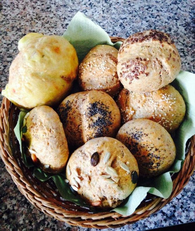 Rezept blitz schnelle Mini Broetchen ohne gehen lassen Teig