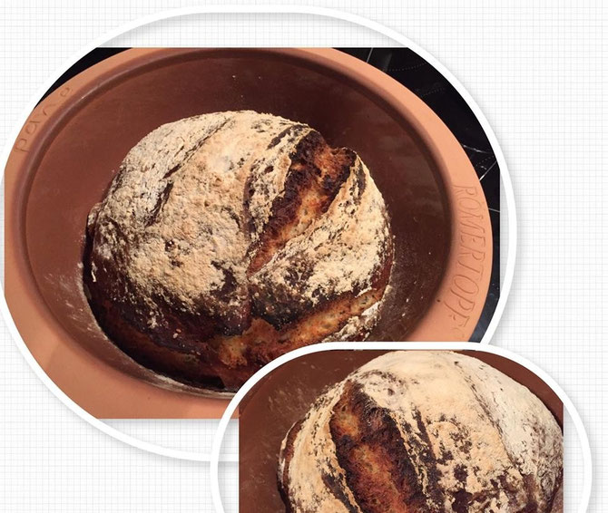Rezept Brot mit Mohn und Joghurt aus dem Roemertopf Pane