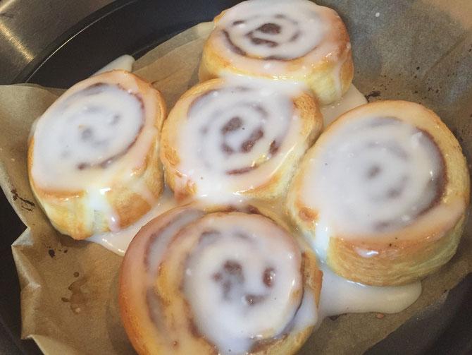Rezept einfache Cinnamon Rolls - Buns– Zimtschnecken