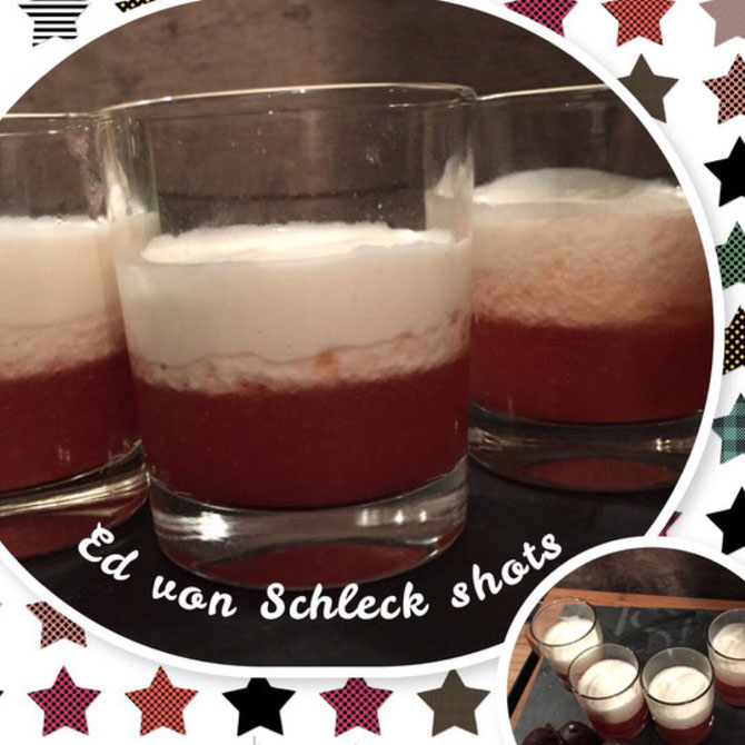 Ed von Schleck Shots - Cocktail mit Erdbeer und Vanille Wodka