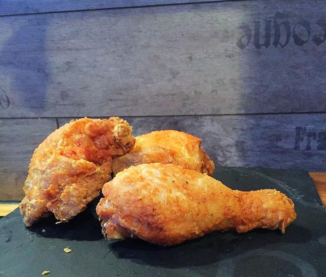 John Legend's fried chicken - frittiertes Haehnchen mit wenigen Zutaten
