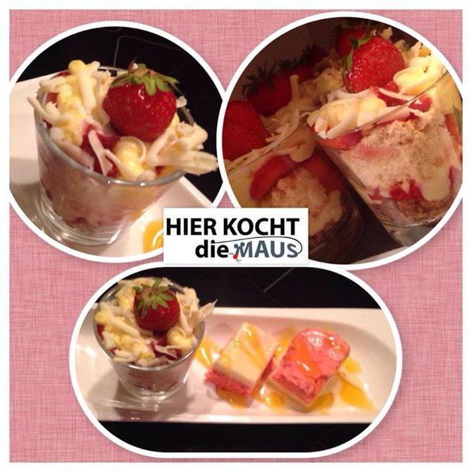 Erdbeer-Vanille-Küchlein im Glas - no bake