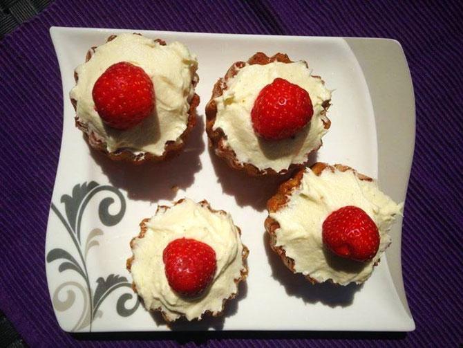 Vanille-Muffin mit Vanille-Frosting