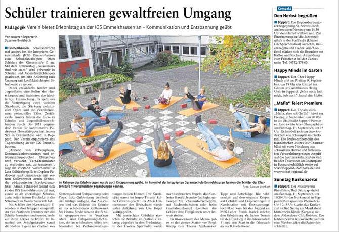Aus der Rhein-Zeitung vom 06.09.2016