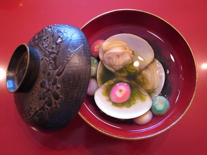 蛤と生海苔のお椀