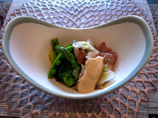 たっぷり野菜と蒸し豚の前菜