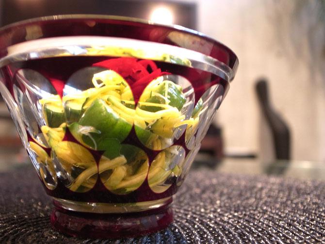 胡瓜とカボッコリーの甘酢漬け