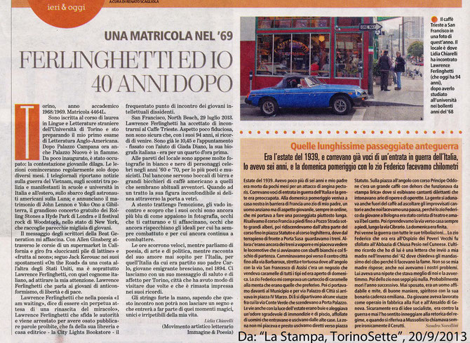 Newspaper Article: La Stampa, September 20, 2013