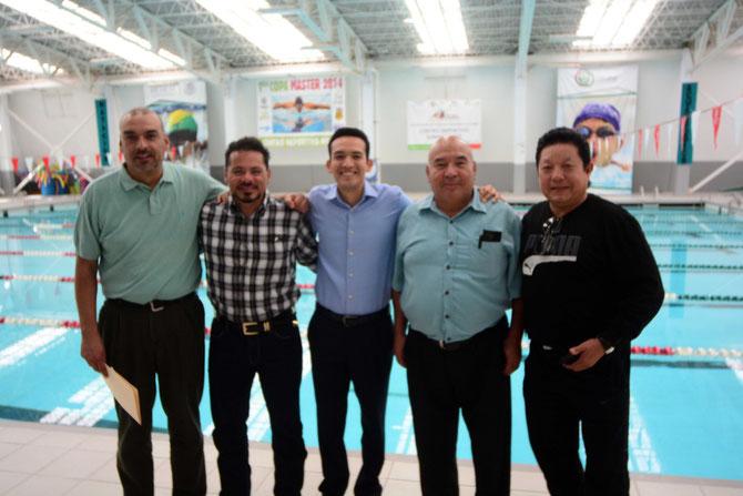 el Director del IMCFDyJ Alejandro de la Rosa, recibió a los cronistas deportivos en las instalaciones del Centro Deportivo Norte.