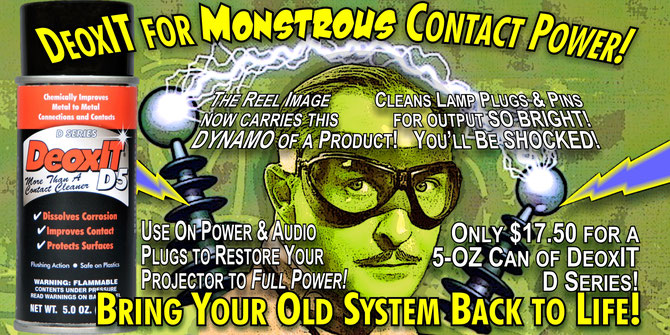 Mad Doctors Recommend DeoxIT from The Reel Image for Monstrous Contact Power!