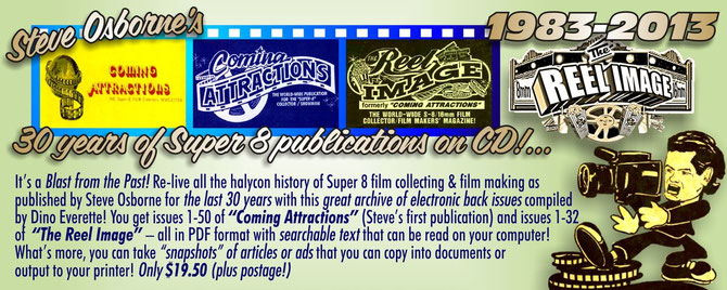 "Issues 1-50 of ""Coming Attractions"" and Issues 1-32 of ""The Reel Image"" in PDF format"