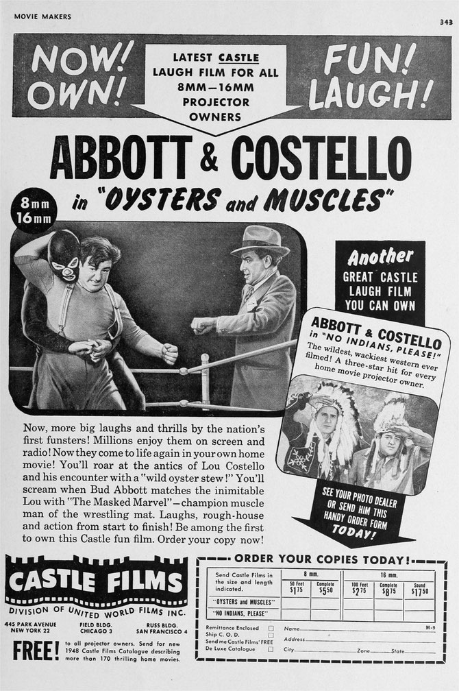 One of the best A&C Castle digests had Lou battling Lon Chaney Jr. and an oyster -- both equally beligerent!