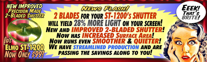 Your Elmo St-1200 will throw 28% MORE LIGHT on your screen!