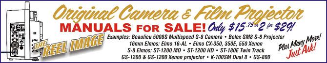 Rare Beaulieu, Bolex, Elmo, Kodak manuals for cameras and projectors available now
