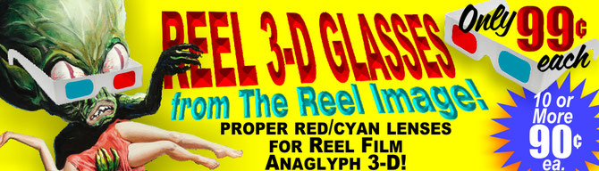 Red/Cyan Anaglyph 3-D Glasses from The Reel Image -- Just 99-Cents Each!