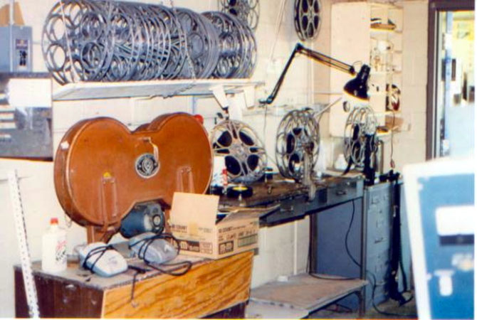 The Bel-Air Projection Booth in 1996, after the drive-in had closed its doors forever!