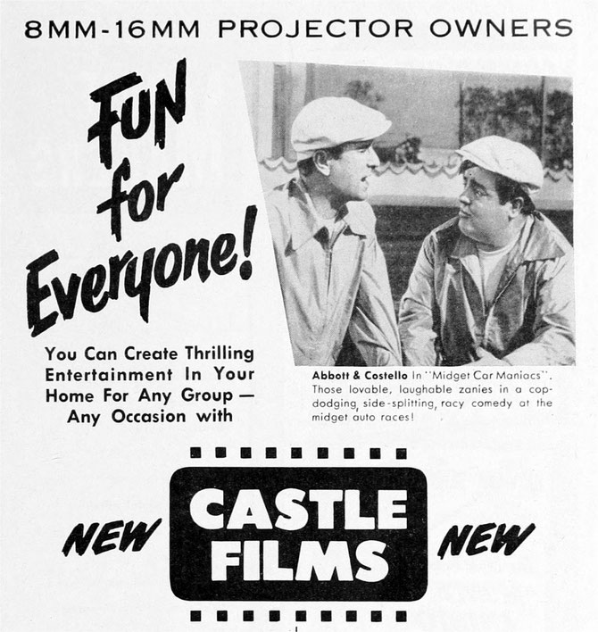 Click For Vintage Castle Films Ads from Yesteryear!