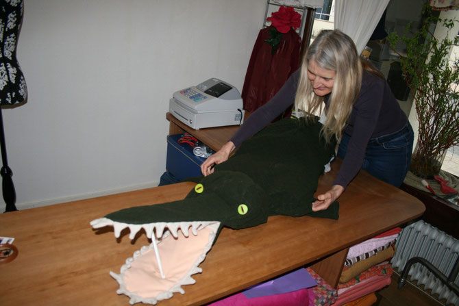 Crocodilesuit, sold, designed and made by Beate Gernhardt