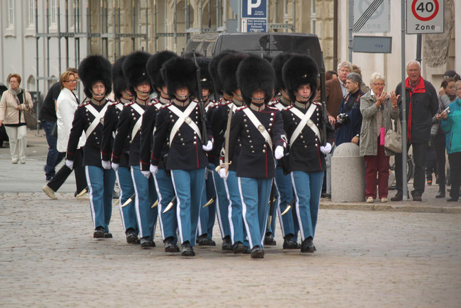 Change of the guards in Copenhagen, Danish military