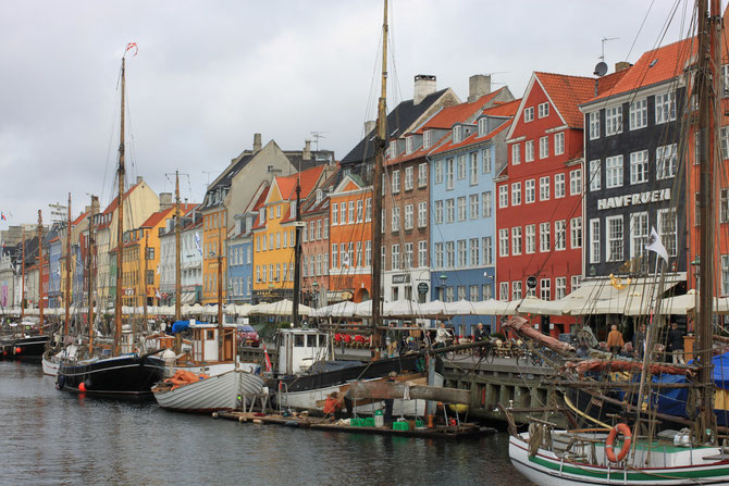 Nyhavn, one of the main sightseeing streets in Copenhagen