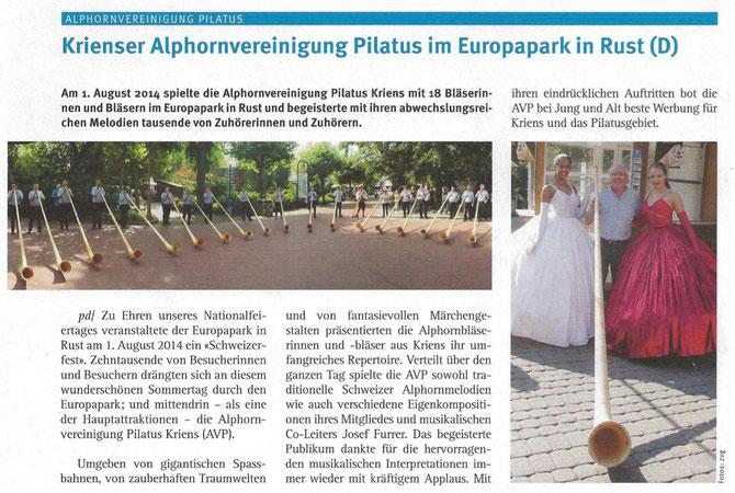 Kriens-Info vom August 2014