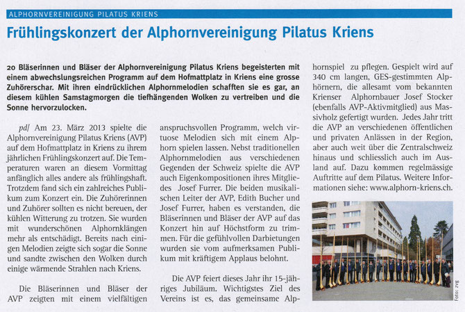 Kriens-Info vom 24.4.2013