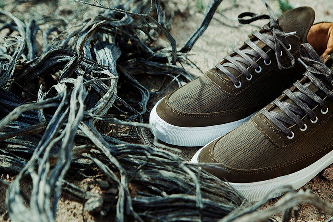 LOW TOP SPECIAL coloris Olive Printed Textile