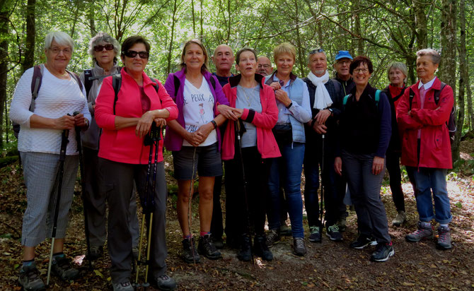 14 Participants, randonnée  après midi