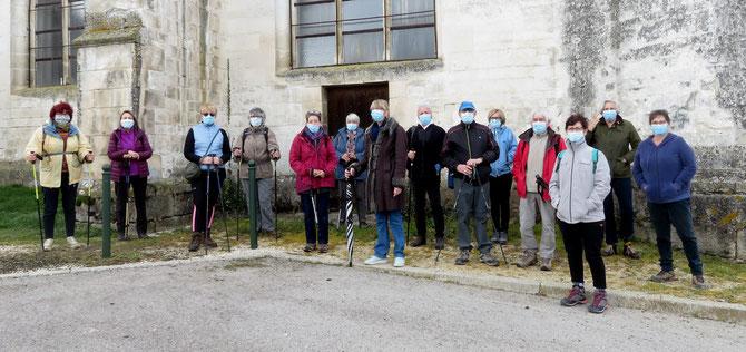 15 Participants , deux groupes de marche .