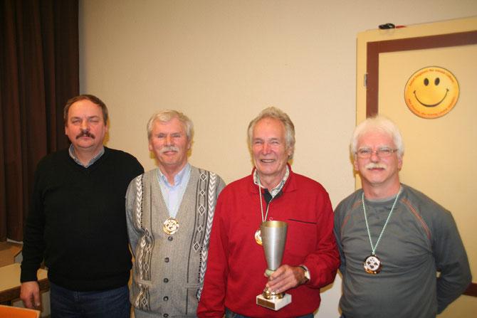 Gewinner Skat 2.Platz J. Fischer 1.Platz R. Grothkopf 3. Platz K.Amlung