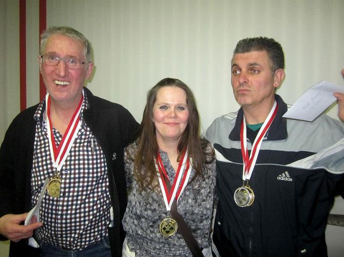 Landesmeister im Rommé-Einzel Vizemeister ist Jovica Dimitrijevic und den dritten Platz hat Carl-Josef Gleitze vom GV Göttingen