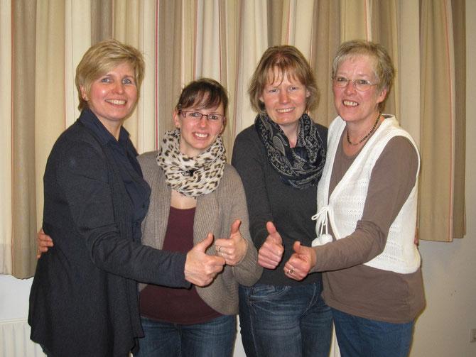 Vorstand Team wurden wiedergewählt, Bild Organisatorin Susanne Jung fehlte.