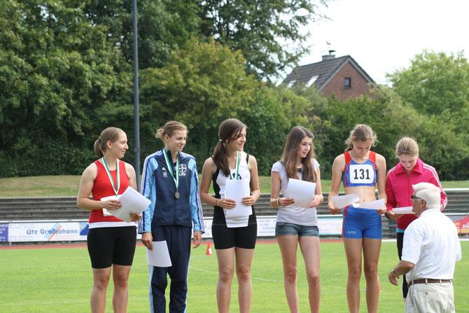 Siegerehrung Nordrheinmeisterschaft Kevelaer - 4ter Platz durch Jana Eck