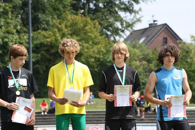 Siegerehrung Nordrheinmeisterschaft Kevelaer - 3ter Platz durch Philipp Eßer