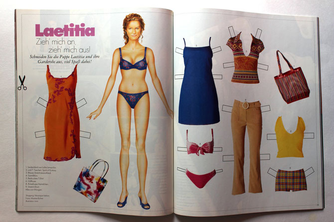 LAETITIA CASTA - ELLE Top Model 4/97 DM 6,00