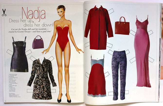NADIA AUERMANN - Top Model US Ausgabe November/December 1996 $3.95
