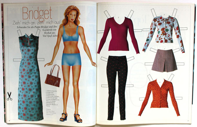 BRIDGET HALL - ELLE Top Model 1/98 DM 6,00